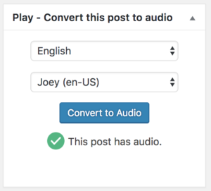 Turn Your WordPress Blog posts into Audio