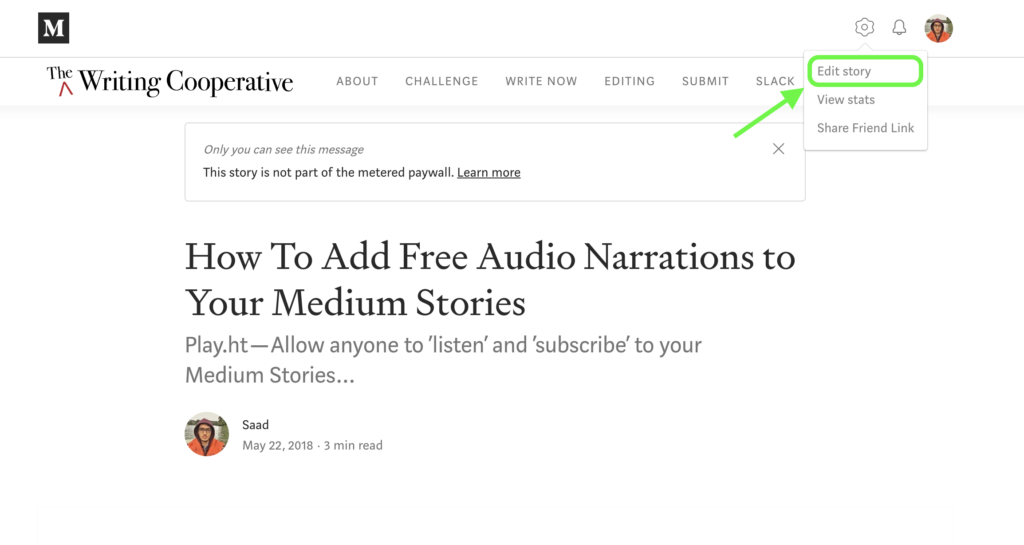 create podcasts from published articles