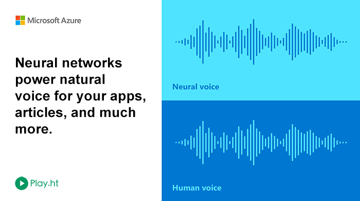 Microsoft's Neural Voices, now on Play.ht