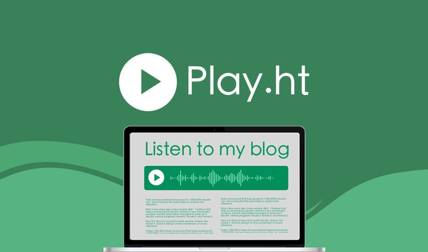 Blog Text to Speech with Play.ht